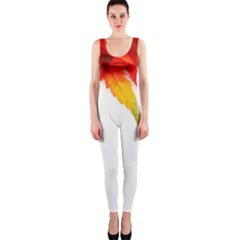 Abstract Autumn Background Bright Onepiece Catsuit