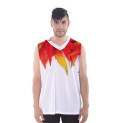 Abstract Autumn Background Bright Men s Basketball Tank Top