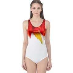 Abstract Autumn Background Bright One Piece Swimsuit