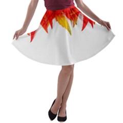 Abstract Autumn Background Bright A Line Skater Skirt