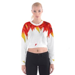 Abstract Autumn Background Bright Cropped Sweatshirt