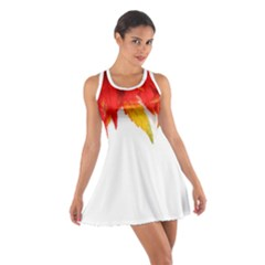 Abstract Autumn Background Bright Cotton Racerback Dress