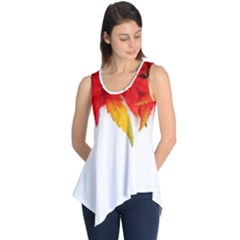 Abstract Autumn Background Bright Sleeveless Tunic