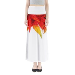 Abstract Autumn Background Bright Maxi Skirts