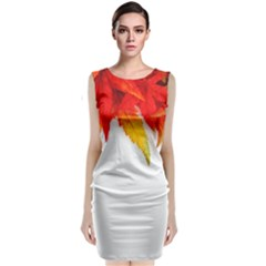 Abstract Autumn Background Bright Classic Sleeveless Midi Dress