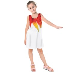 Abstract Autumn Background Bright Kids  Sleeveless Dress