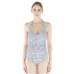 Flooring Household Pattern Halter Swimsuit