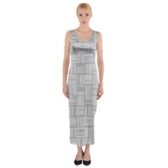 Flooring Household Pattern Fitted Maxi Dress