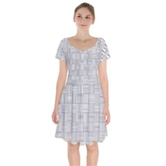 Flooring Household Pattern Short Sleeve Bardot Dress