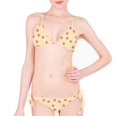 Pattern Gingerbread Star Bikini Set
