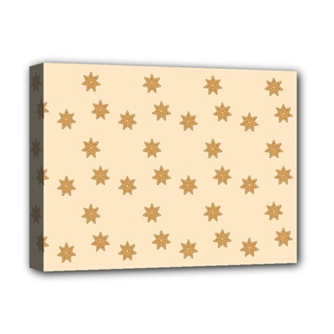 Pattern Gingerbread Star Deluxe Canvas 16  x 12