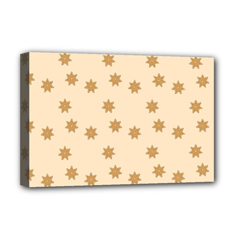 Pattern Gingerbread Star Deluxe Canvas 18  X 12