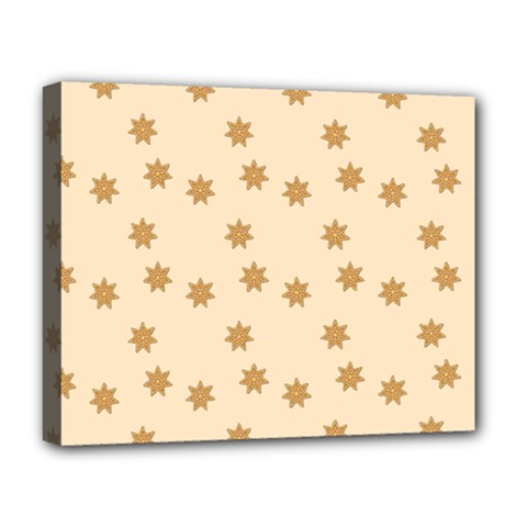Pattern Gingerbread Star Deluxe Canvas 20  X 16