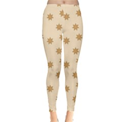 Pattern Gingerbread Star Leggings