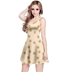 Pattern Gingerbread Star Reversible Sleeveless Dress