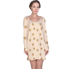 Pattern Gingerbread Star Long Sleeve Nightdress