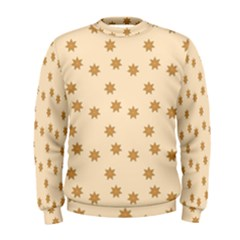 Pattern Gingerbread Star Men s Sweatshirt