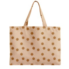 Pattern Gingerbread Star Zipper Mini Tote Bag
