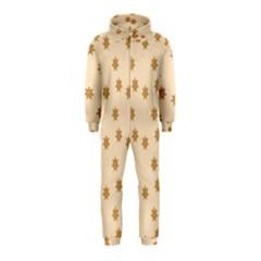Pattern Gingerbread Star Hooded Jumpsuit (kids)