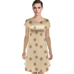 Pattern Gingerbread Star Cap Sleeve Nightdress