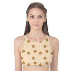 Pattern Gingerbread Star Tank Bikini Top