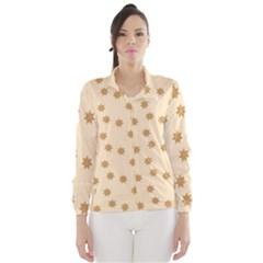 Pattern Gingerbread Star Wind Breaker (Women)