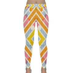 Line Pattern Cross Print Repeat Classic Yoga Leggings