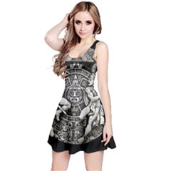 Pattern Motif Decor Reversible Sleeveless Dress
