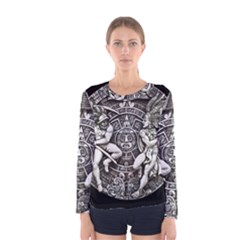 Pattern Motif Decor Women s Long Sleeve Tee