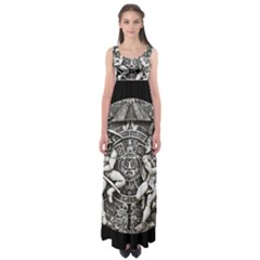 Pattern Motif Decor Empire Waist Maxi Dress