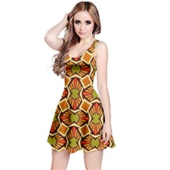 Geometry Shape Retro Trendy Symbol Reversible Sleeveless Dress