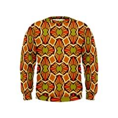 Geometry Shape Retro Trendy Symbol Kids  Sweatshirt
