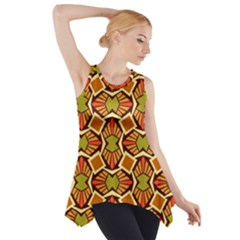 Geometry Shape Retro Trendy Symbol Side Drop Tank Tunic