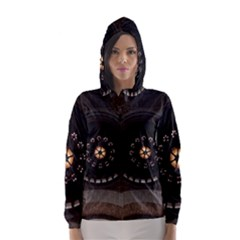 Pattern Design Symmetry Up Ceiling Hooded Wind Breaker (Women)