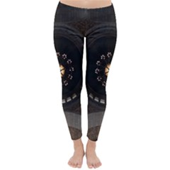 Pattern Design Symmetry Up Ceiling Classic Winter Leggings