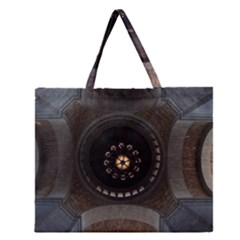 Pattern Design Symmetry Up Ceiling Zipper Large Tote Bag