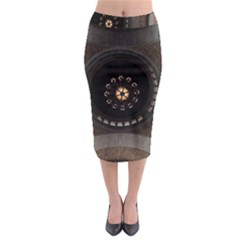 Pattern Design Symmetry Up Ceiling Midi Pencil Skirt