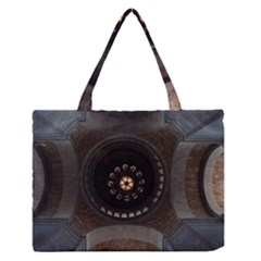 Pattern Design Symmetry Up Ceiling Medium Zipper Tote Bag