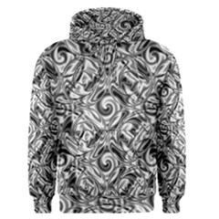 Gray Scale Pattern Tile Design Men s Pullover Hoodie