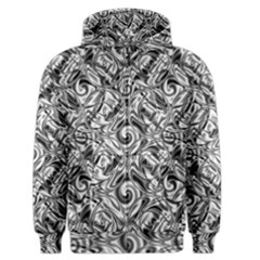 Gray Scale Pattern Tile Design Men s Zipper Hoodie