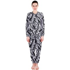 Gray Scale Pattern Tile Design Onepiece Jumpsuit (ladies)