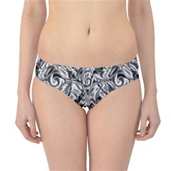 Gray Scale Pattern Tile Design Hipster Bikini Bottoms
