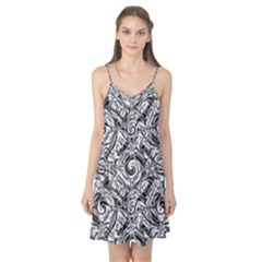 Gray Scale Pattern Tile Design Camis Nightgown