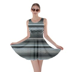 Sheet Holes Roller Shutter Skater Dress