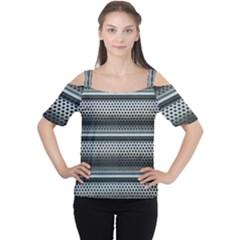 Sheet Holes Roller Shutter Women s Cutout Shoulder Tee