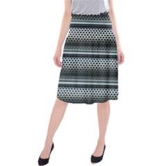 Sheet Holes Roller Shutter Midi Beach Skirt