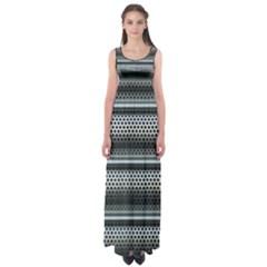Sheet Holes Roller Shutter Empire Waist Maxi Dress