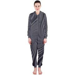 Abstract Art Color Design Lines Hooded Jumpsuit (ladies)
