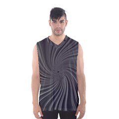 Abstract Art Color Design Lines Men s Basketball Tank Top