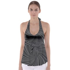 Abstract Art Color Design Lines Babydoll Tankini Top